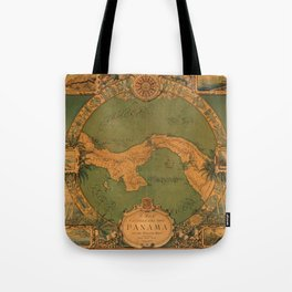 Historical Map of Panama Tote Bag