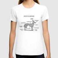 greyhound T-shirts featuring Greyhound Anatomy by gemma correll