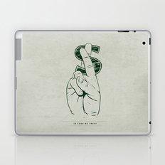In Cash We Trust. Laptop & iPad Skin