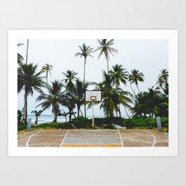 Basketball on Isla Bastimento, Bocas del Toro, Panama Art Print