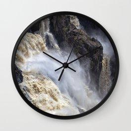Raging thunder of the waterfall Wall Clock