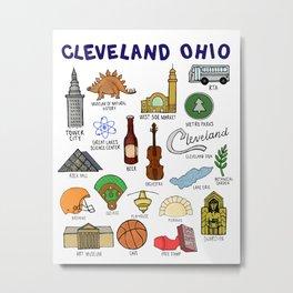 Cleveland Ohio Landmarks Metal Print