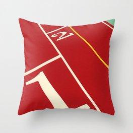 Running Track 123 Throw Pillow