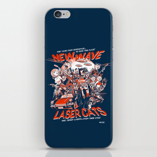 New Wave Laser Cats iPhone & iPod Skin