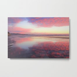 A Sunset Like Cotton Candy Metal Print
