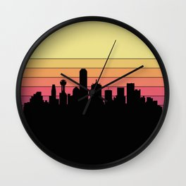 Dallas Skyline Wall Clock
