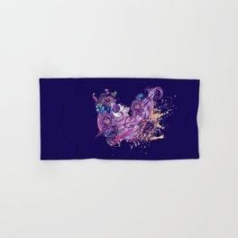 Purple sugar skull Hand & Bath Towel