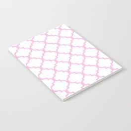 Moroccan Trellis (Pink & White Pattern) Notebook