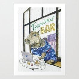 Capybarita Art Print