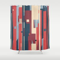 metropolis Shower Curtains featuring Metropolis by Tracie Andrews
