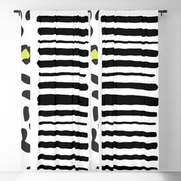 Animal stripes and bubbles Blackout Curtain