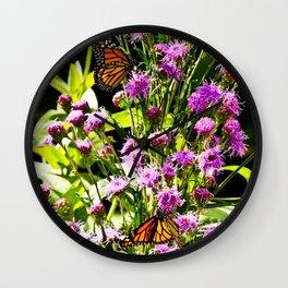 Monarch Butterfly Couple Wall Clock