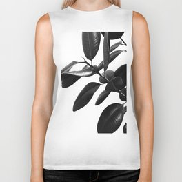 Ficus Elastica Black & White Vibes #1 #foliage #decor #art #society6 Biker Tank