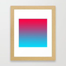 Pink and Sky-Blue Gradient 009 Framed Art Print