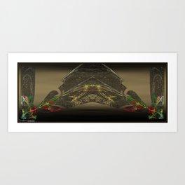 Frakblot Coyote Art Print