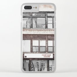 Hand mad cigars on Sixth Avenue Clear iPhone Case