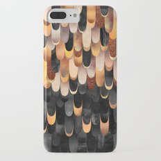Feathered - Copper And Black iPhone 7 Plus Slim Case