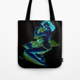 Gil Elvgren Pin Up Girl Dark Tote Bag