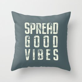Spread Good Vibes Throw Pillow