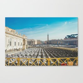 Ready for Mass at the Vatican, St. Paul's Basilicia, Italy Canvas Print