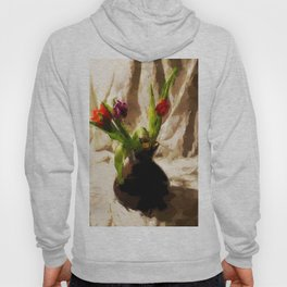 Tulips with brown Vase Hoody