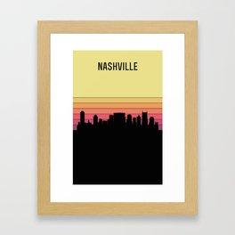 Nashville Skyline Framed Art Print