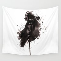 darth vader Wall Tapestries featuring Darth Vader by Anguiano Art