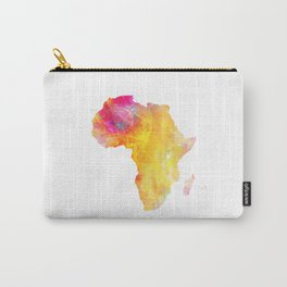 Africa map yellow green Carry-All Pouch