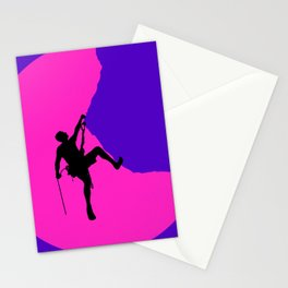 Climbing in sunset Stationery Cards