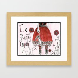 Poor Rabbit Framed Art Print