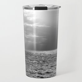 Black and White Sea Travel Mug