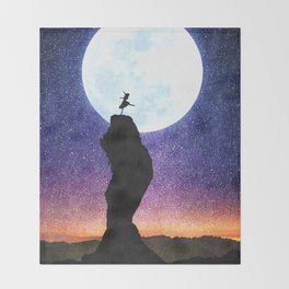 A Dance for the Moon Throw Blanket