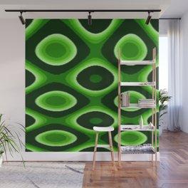 Green Dotty Wall Mural