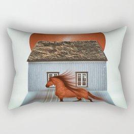 The red horse Rectangular Pillow