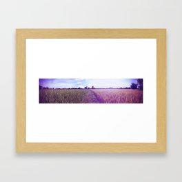 Half Field - 1/2 Framed Art Print