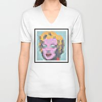 monroe V-neck T-shirts featuring Monroe by ONEDAY+GRAPHIC