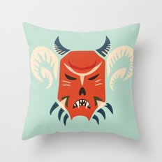 Kuker Evil Monster Mask Throw Pillow