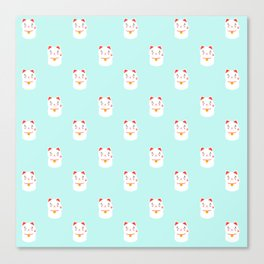 Lucky happy Japanese cat pattern Canvas Print