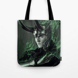 Green Fire Tote Bag
