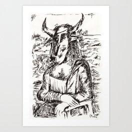 Minotaur Lisa  Art Print