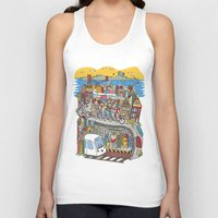 grateful dead Tank Tops featuring Bound To Cover Just A Little More Ground - The Grateful Dead by Schlayer Design