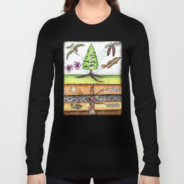 Metasequoia Faded Border Long Sleeve T-shirt
