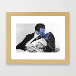 Only with you I made the sea, waves and night Framed Art Print