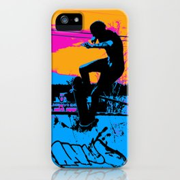 On Edge - Skateboarder iPhone Case