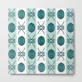 Bristle Mint Metal Print