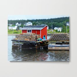 Fisherman's Shack Metal Print