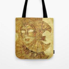 Golden Venetian mask Tote Bag