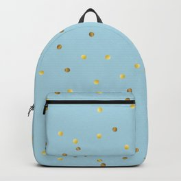 Gold Confetti On Pastel Blue Backpack