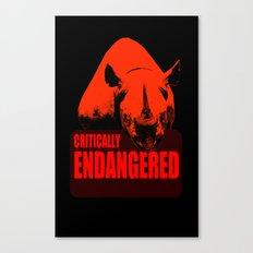 Critically Endangered Black Rhino Canvas Print