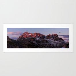 Dreischusterspitze at sunset Art Print